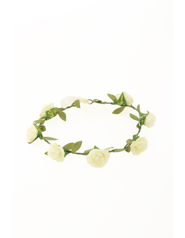 Aria Floral Crown in Cream