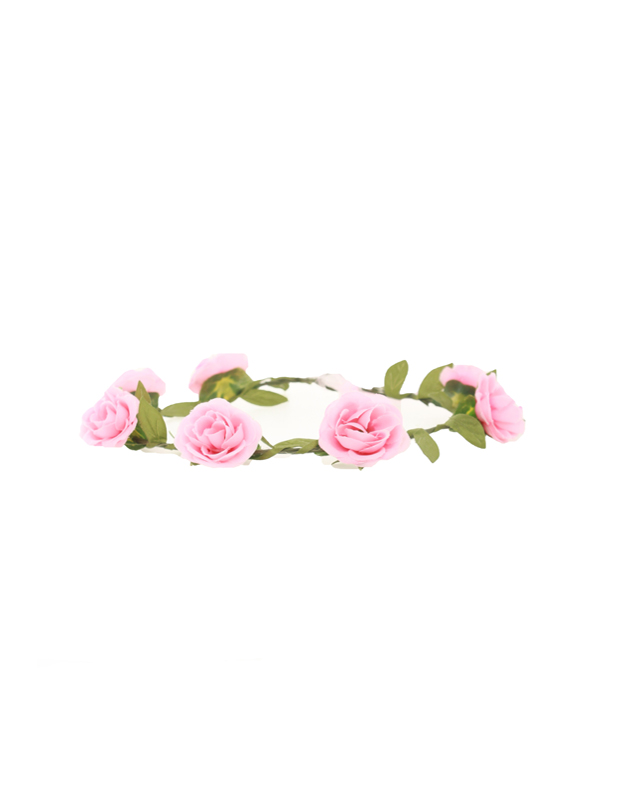 Aria Floral Crown in Pink