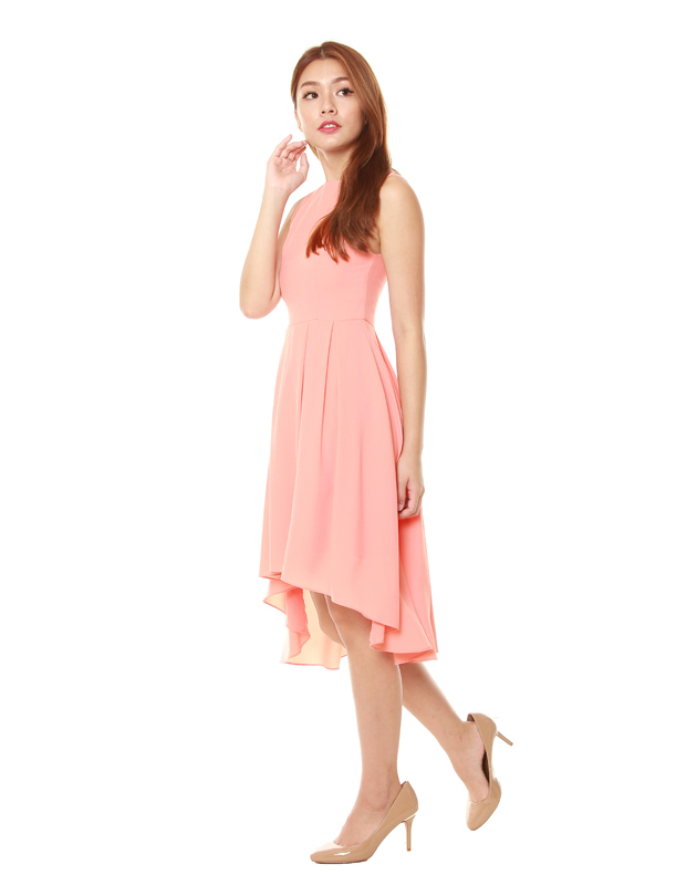 Summer Dress in Pastel Peach