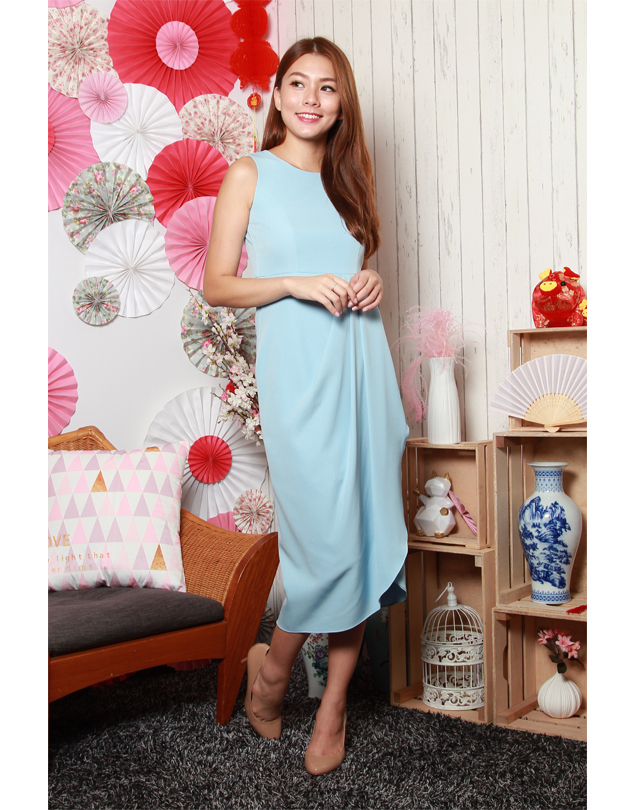 Tara Dress in Powder Blue