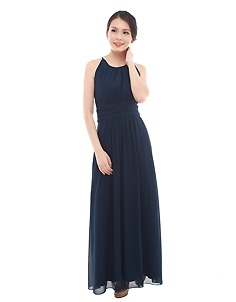 Ava Maxi Dress in Navy Blue