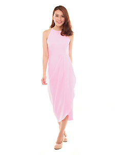 Tulip Dress in Sugar Pink