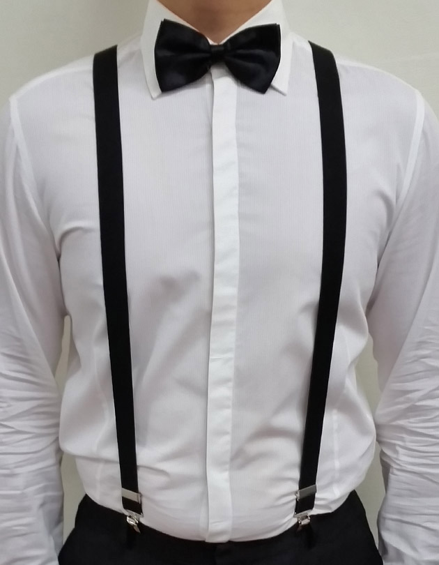 Suspenders in Black