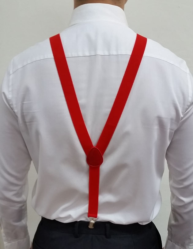 Suspenders in Chilli Red