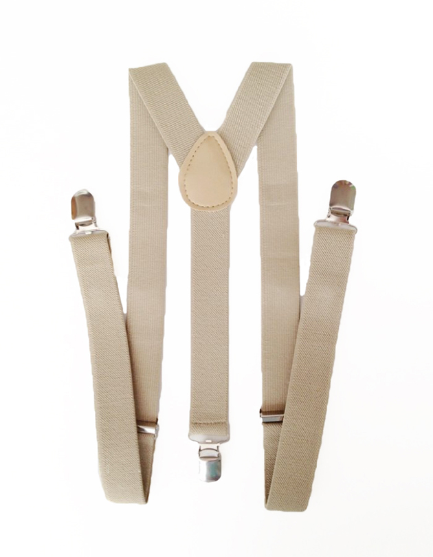 Suspenders in Khaki