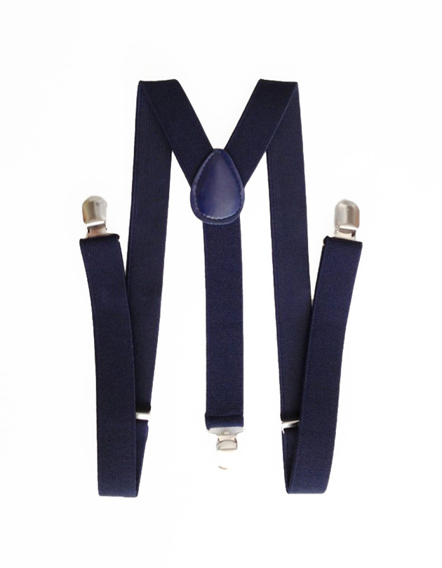 Suspenders in Navy Blue