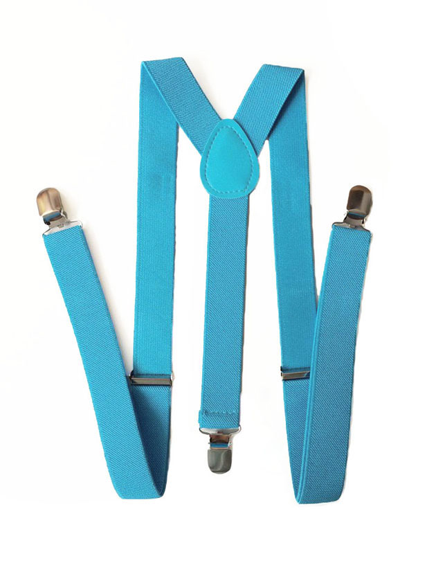 Suspenders in Sky Blue
