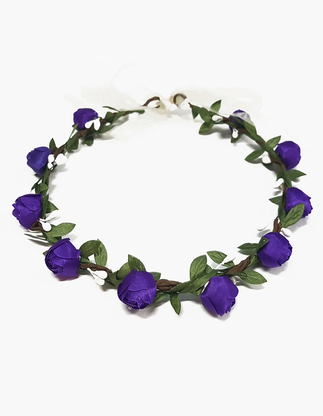 Rosa Floral Crown in Purple