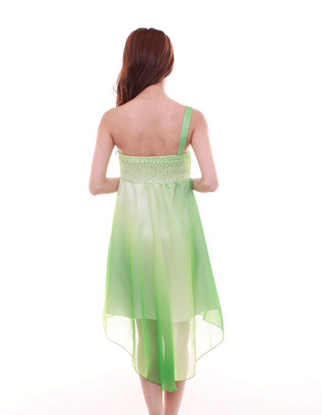 Bella Dress in Two-Toned Green