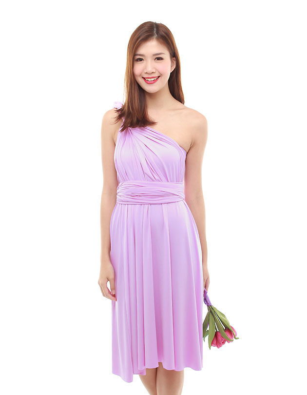 Cherie Convertible Classic Dress in Lilac