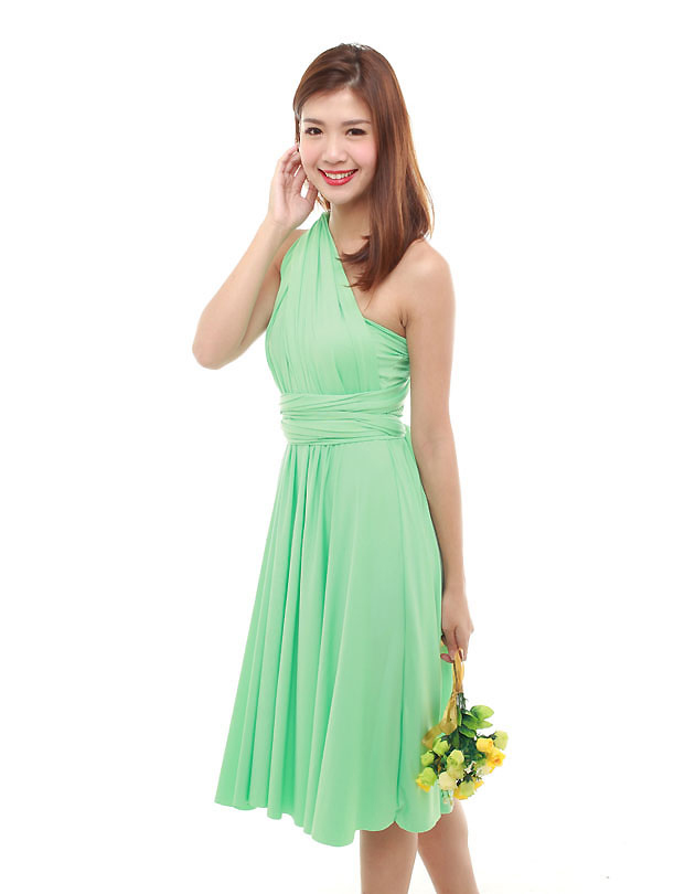 Cherie Convertible Classic Dress in Minty Green