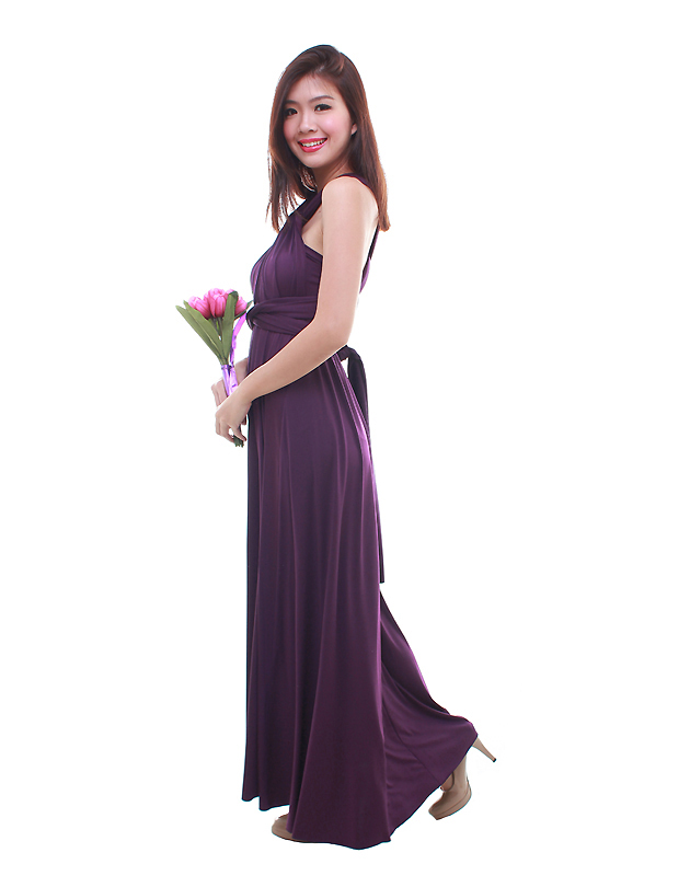 Cherie Convertible Maxi Dress in Velvet Purple