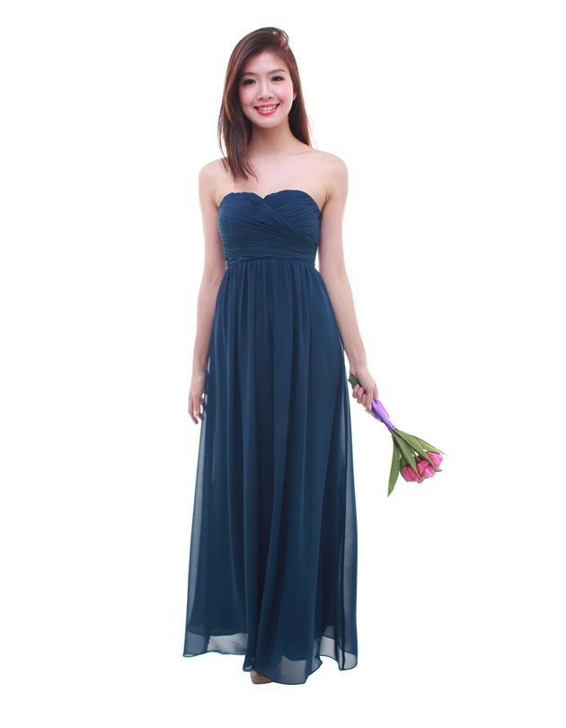 0b9e153b9a71b Cleo Maxi Dress in Navy Blue - The BMD Shop - Your Bridesmaid ...