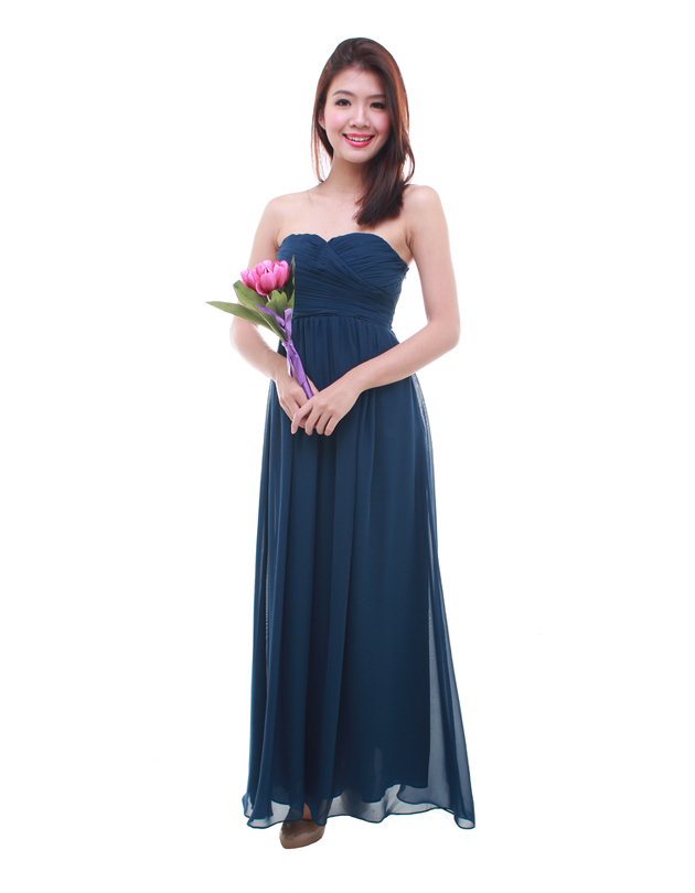 Cleo maxi dress in navy blue the bmd shop your for Navy blue maxi dress for wedding