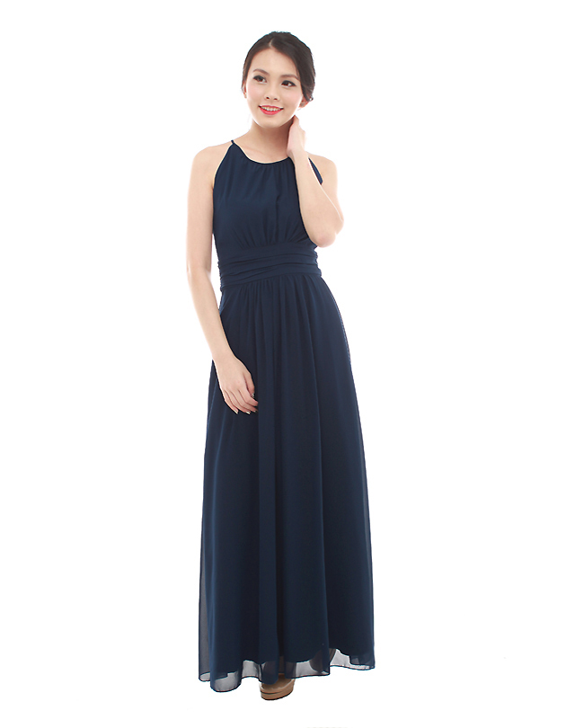 Ava maxi dress in navy blue the bmd shop your for Navy blue maxi dress for wedding