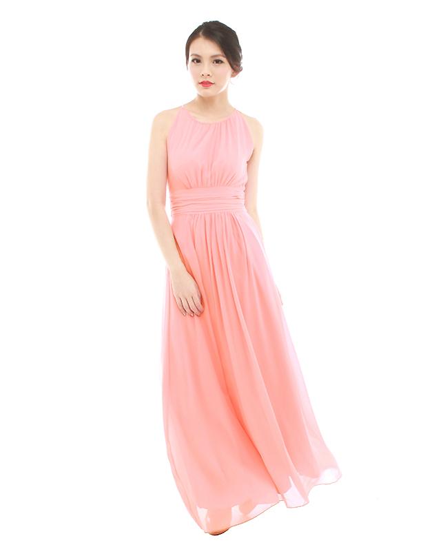 Ava Maxi Dress In Peach