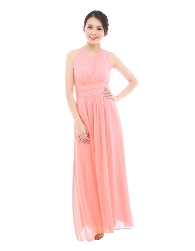 Ava Maxi Dress in Peach