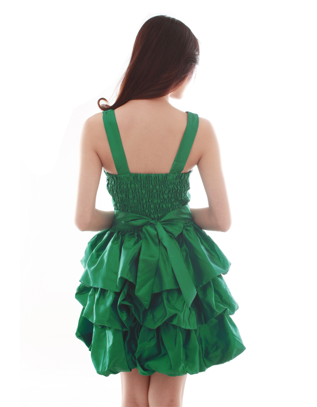 Emma Dress in Forest Green
