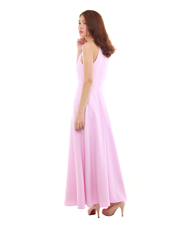 Heather Maxi Dress in Pastel Lilac