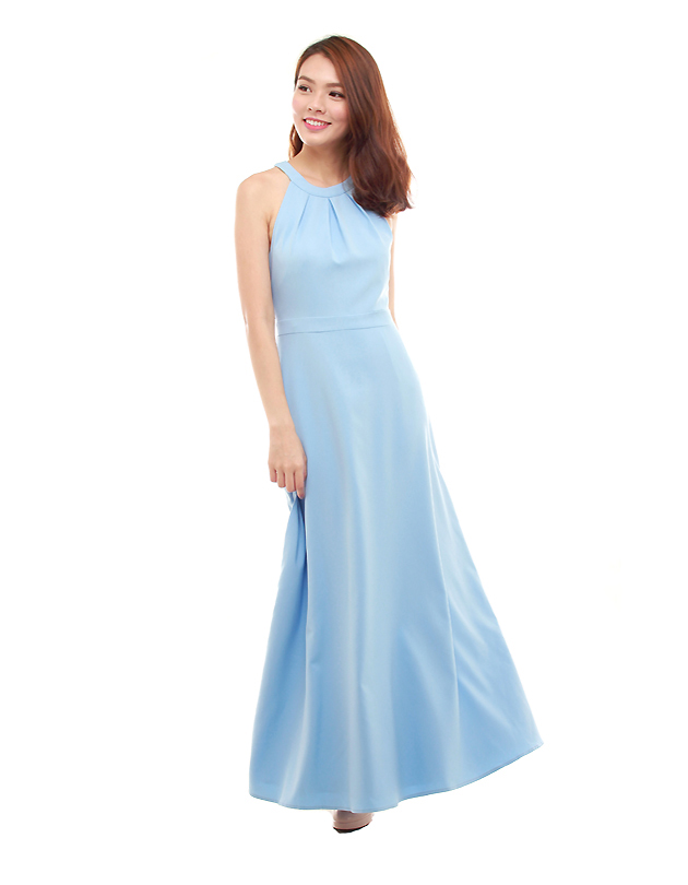 Heather Maxi Dress in Powder Blue