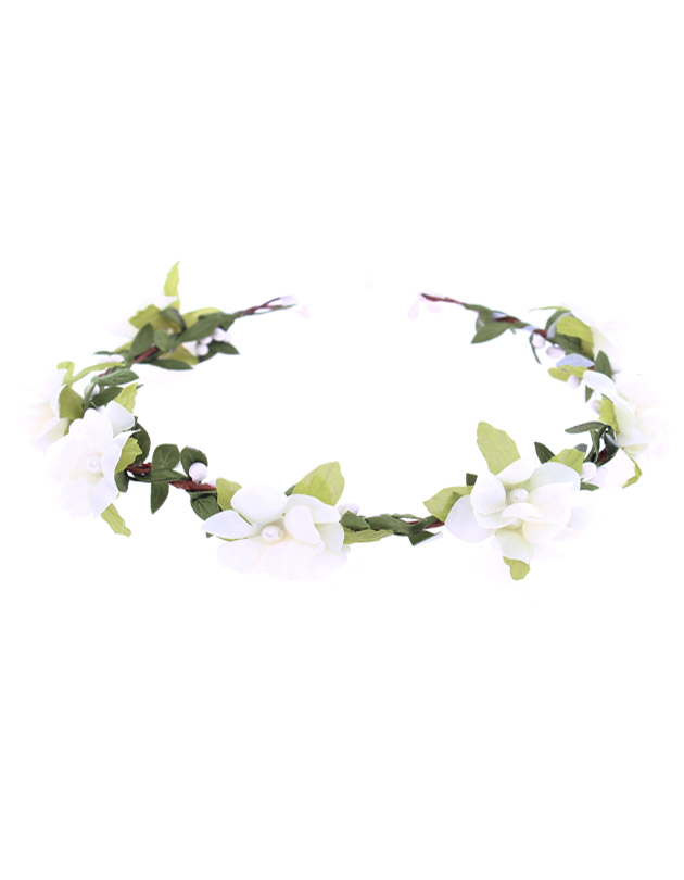 Lola Floral Crown in Cream