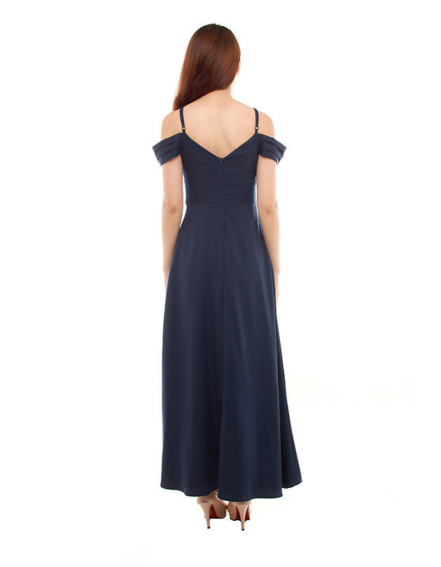 Ophelia Maxi Dress in Navy Blue