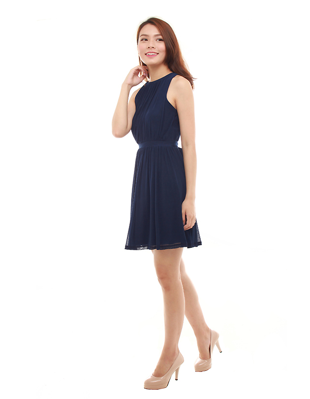 Paris Dress in Navy Blue