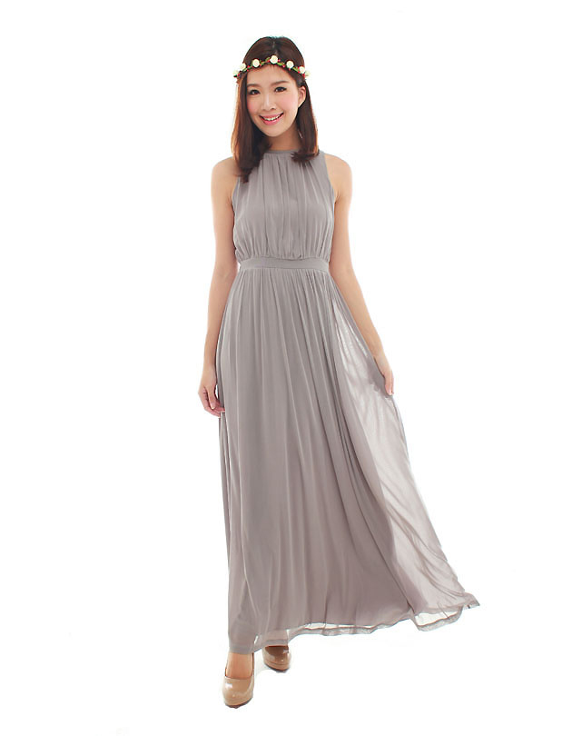 Paris Maxi Dress in Dusty Grey