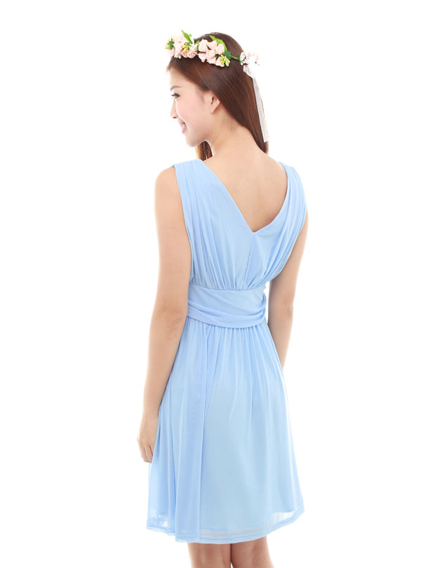 Sophie Dress in Powder Blue