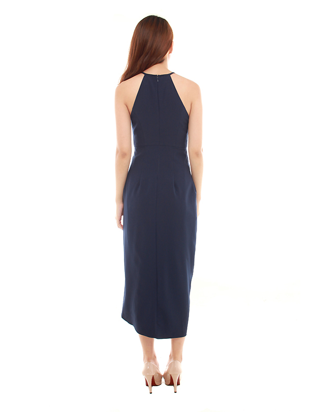 Tulip Dress in Navy Blue