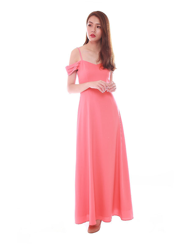 Ophelia Maxi Dress in Coral - The BMD Shop - Your Bridesmaid Dresses ...