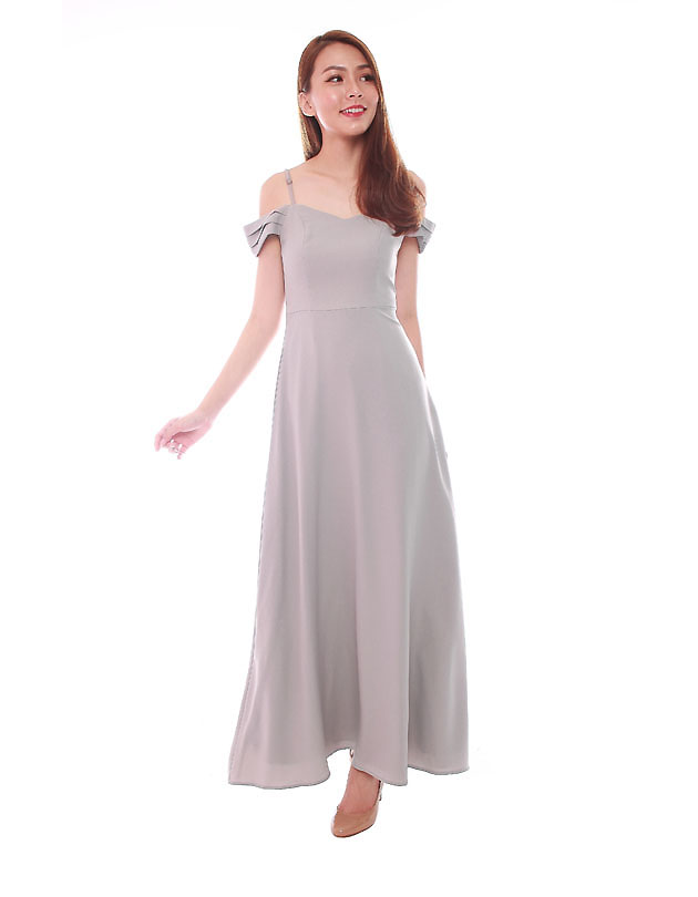 Ophelia Maxi Dress in Cloudy Grey
